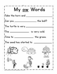 Sentences For ow Words