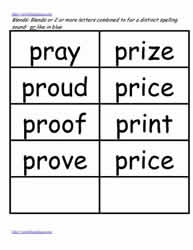Pr word study lists, pray, price etc.