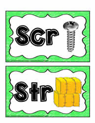 3 Letter Blends Posters