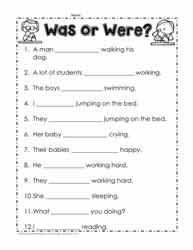 Was Vs Were Worksheet 2