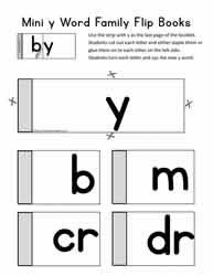 Word Family Flip Book For y